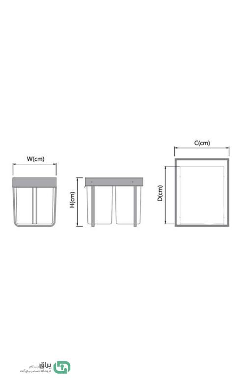 سطل-زباله-دو-مخزن-3633-پلاتین-شماتیک--platin