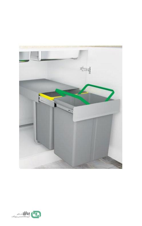 سطل-زباله-دو-مخزن-3633-پلاتین---platin