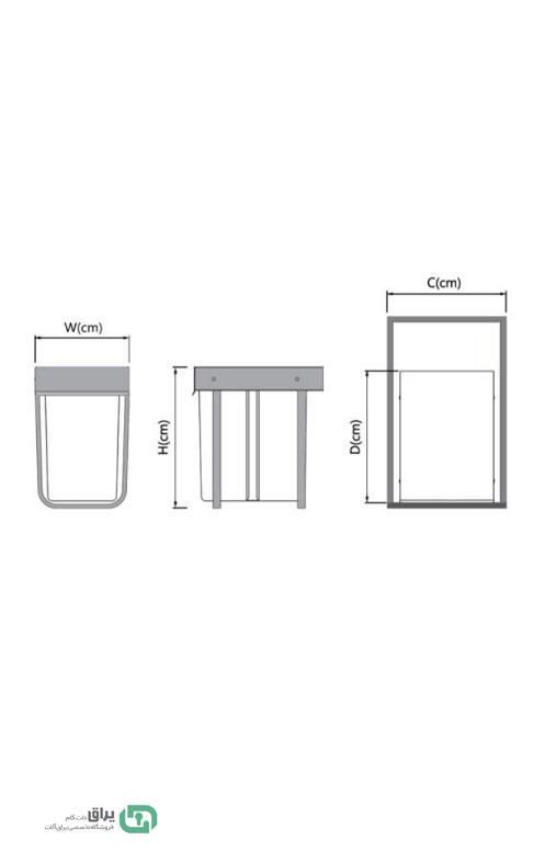 شماتیک-سطل-زباله-تک-مخزن-3611-پلاتین-platin