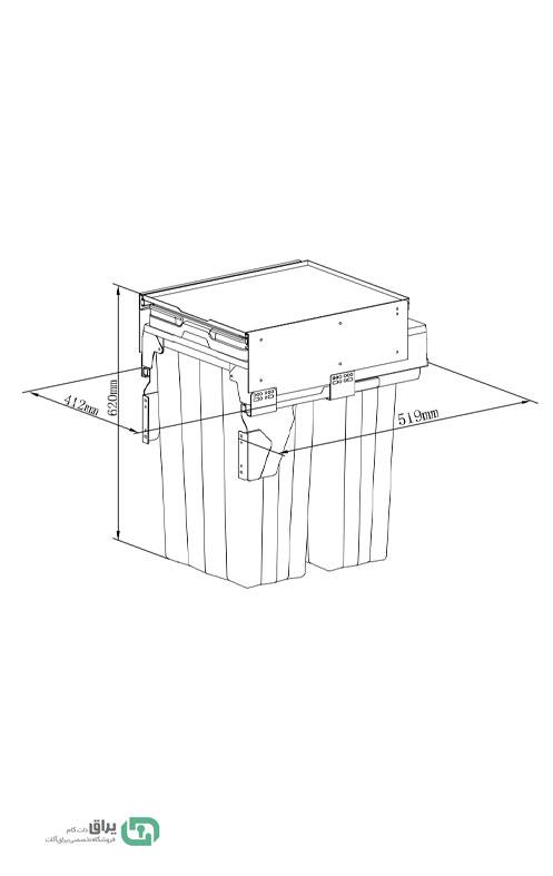 شماتیک-سطل-زباله-ریلی-آرام-بند-9007-یونی-هوپر---Unihopper
