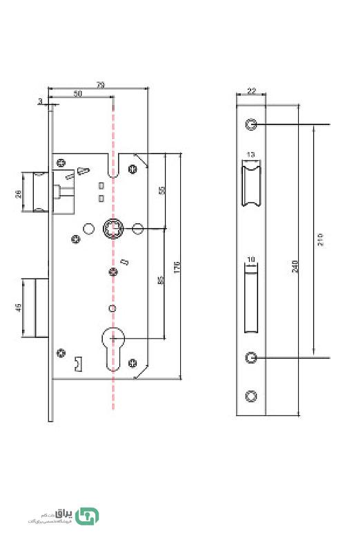 شماتیک-قفل-سوئیچی-فاصله-50-بهسازان
