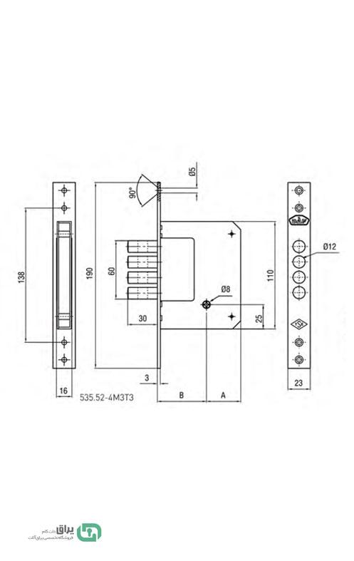 شماتیک-قفل-چهار-لول ضد سرقت-535.52-داف