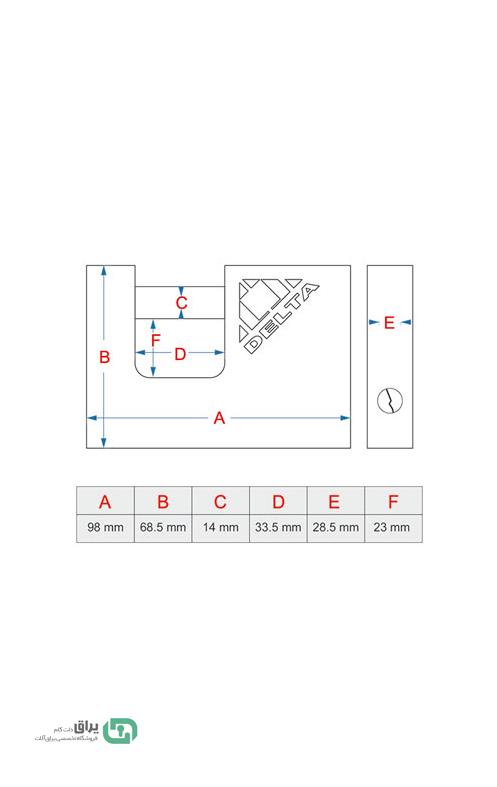 -قفل-کتابی-روکش-فولادی-98-میلی-متری-فنری