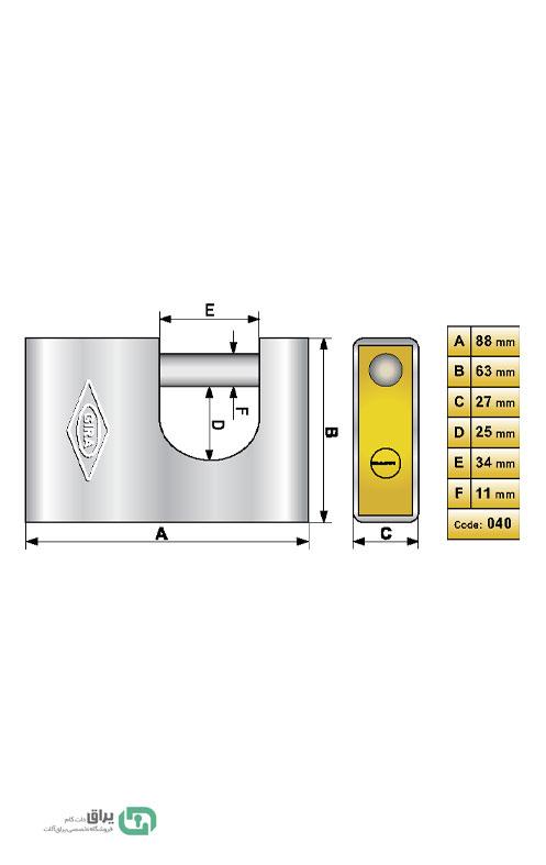 شماتیک-قفل-040-گیرا