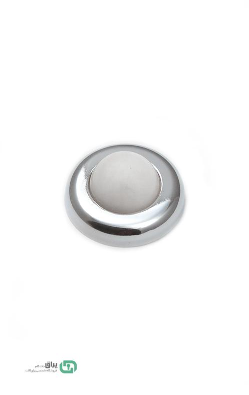 گیر درب کاور فلزی نقره براق