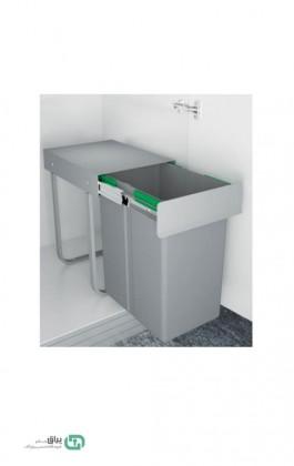 سطل زباله تک مخزن 3611 پلاتین - platin