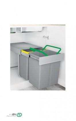 سطل زباله دو مخزن 3633 پلاتین - platin