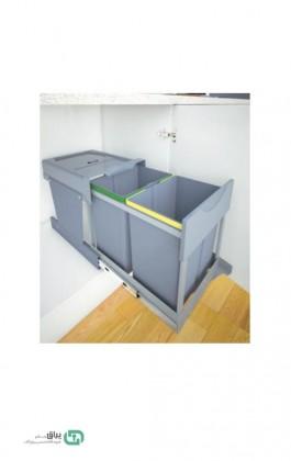سطل زباله دو مخزن لینک دار 3655 پلاتین - platin