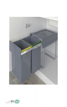 سطل زباله دو مخزن هایلوکس 3653 پلاتین - platin