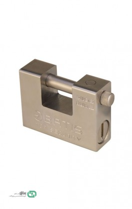 قفل کتابی فولادی کلید برنجی 94 باتیس-Batis